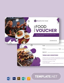 Night Out Food Voucher Template