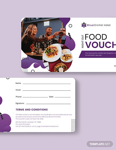 Sample Night Out Food Voucher