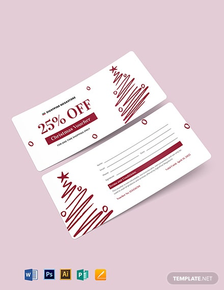 Printable Christmas Voucher Template