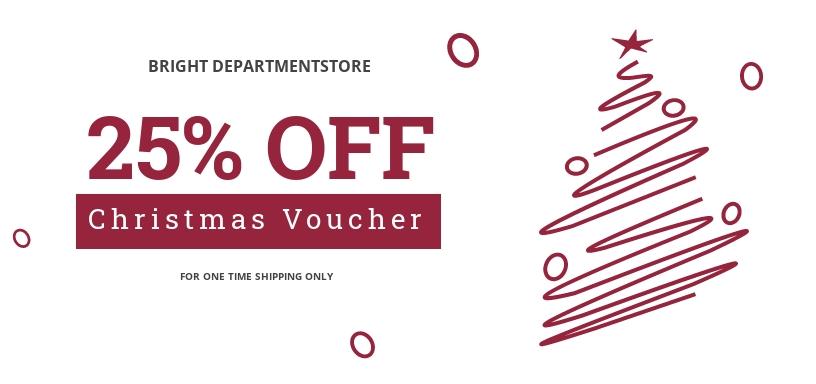Printable Christmas Voucher Template