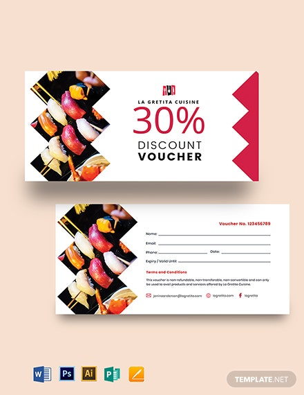 Printable Restaurant Voucher Template