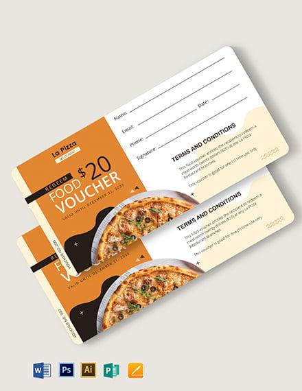 redemption food voucher template 1