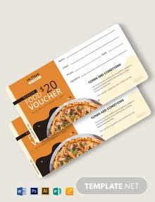 Redemption Food Voucher Template