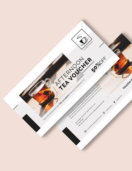 Restaurant Afternoon Tea Voucher Download