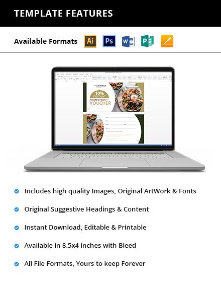 Restaurant Promotion Voucher Printable