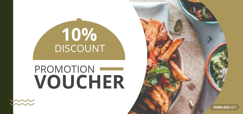 Restaurant Promotion Voucher Template