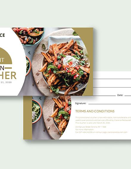 Sample Restaurant Promotion Voucher