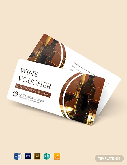 Restaurant Wine Voucher Template