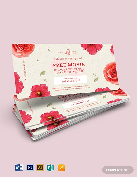 Romantic Love Voucher Template for Girlfriend
