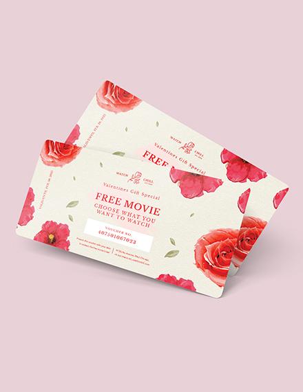 Sample Romantic Love Voucher for Girlfriend