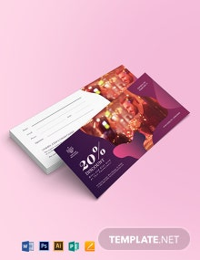 Romantic Love Voucher Template