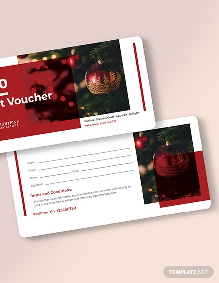 Sample Christmas Voucher Download