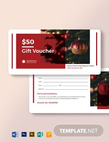 Sample Christmas Voucher Template