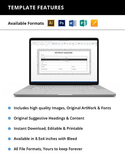 Editable Sample Payment Voucher