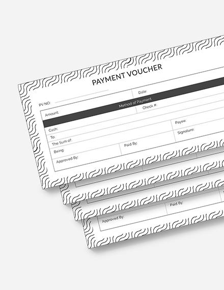 Sample Payment Voucher Download