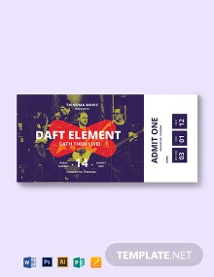 Sample Ticket Voucher Template