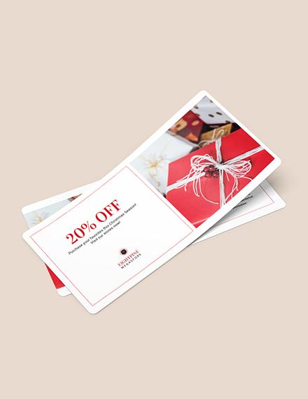 Simple Christmas Voucher Download