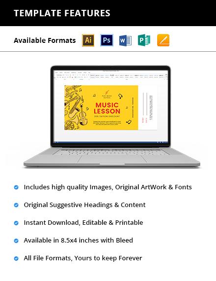 Music Lesson Voucher Printable
