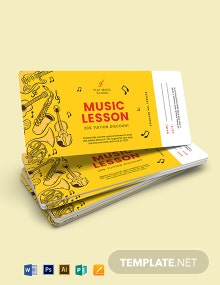 Music Lesson Voucher Template