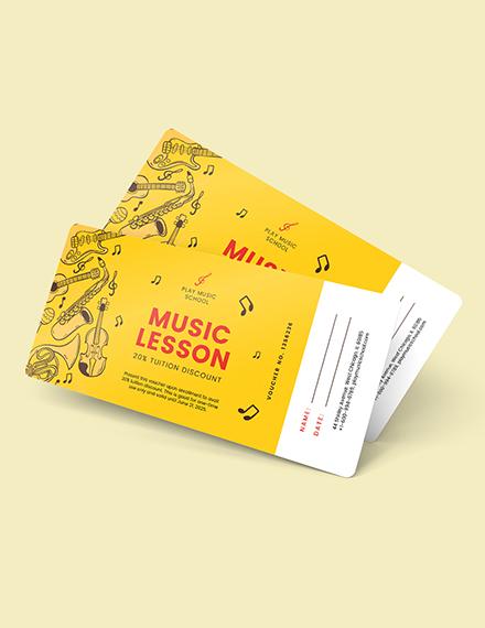 Sample Music Lesson Voucher