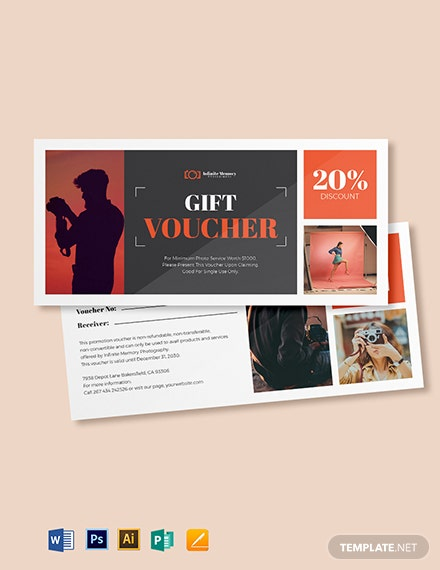 Photoshoot Photography Voucher Template
