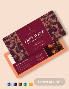 Private Wine Voucher Template