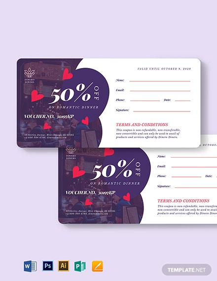 Romantic Dinner Voucher Template