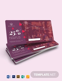 Romantic Evening Voucher Template