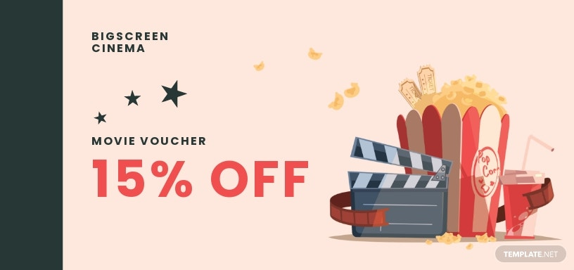 Romantic Love Movie Voucher Template