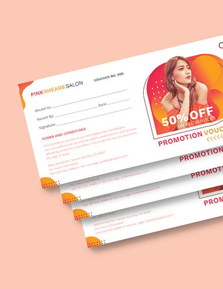 Salon Promotion Voucher Download