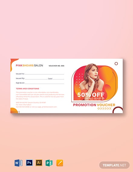 Salon Promotion Voucher Template