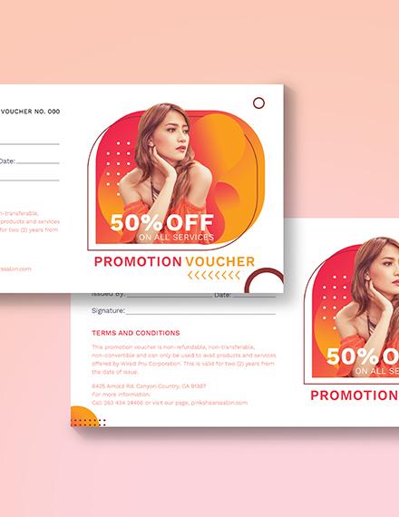 Sample Salon Promotion Voucher