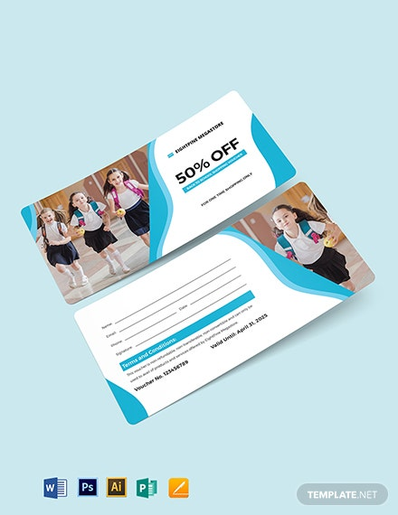 School Uniform Shopping Voucher Template