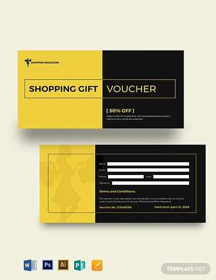 Shopping Gift Card Voucher Template