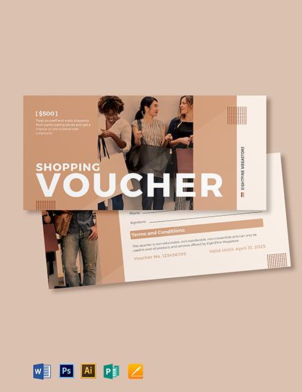 Shopping Spree Voucher Template
