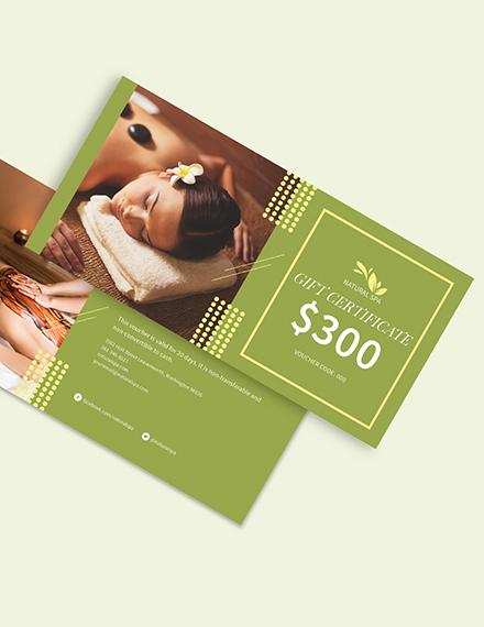 Spa Gift Voucher card Download