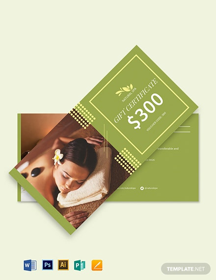 spa gift voucher card template  download 450  vouchers in