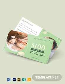 Spa Promotion Voucher Template