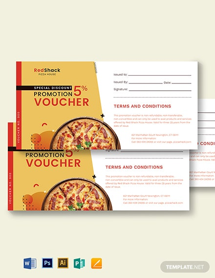 Special Discount Promotion Voucher Template