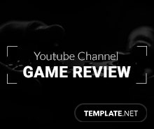 Free YouTube Channel Art Game Review Template