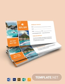 Travel Book Voucher Template
