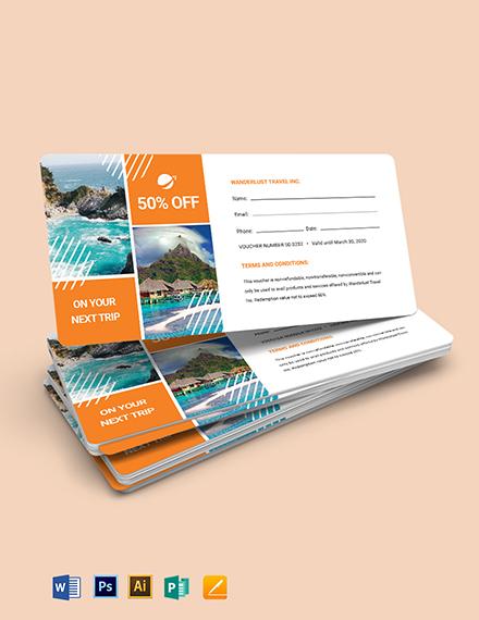 Travel Book Voucher Template