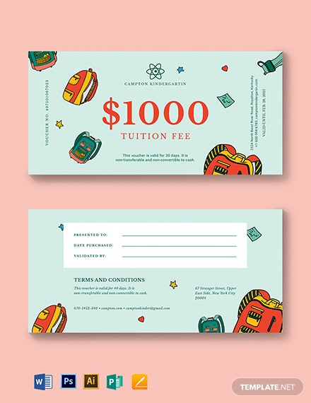 Tuition Voucher Template