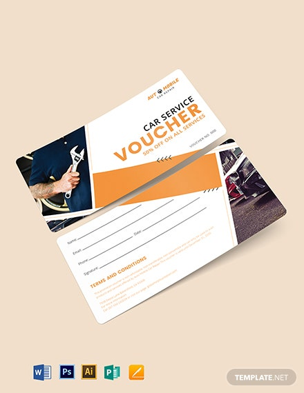Car Service Promotion Voucher Template