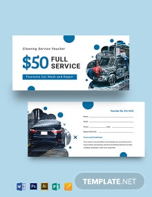 Car Wash Service Voucher Template