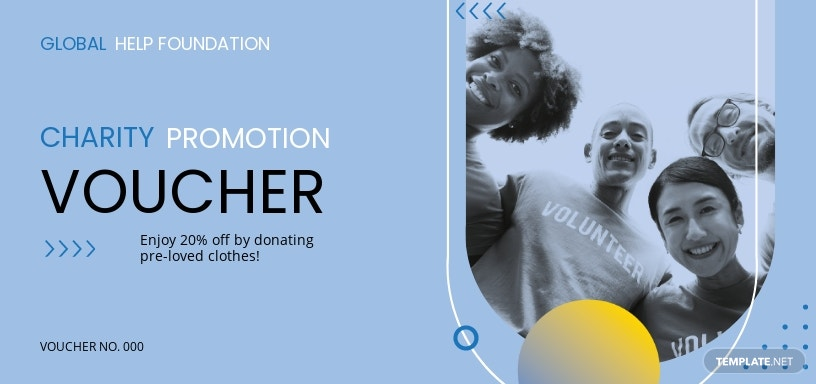 Charity Promotion Voucher Template