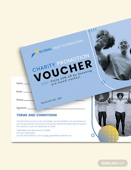 Sample Charity Promotion Voucher
