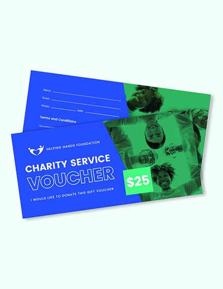 Charity Service Voucher Download