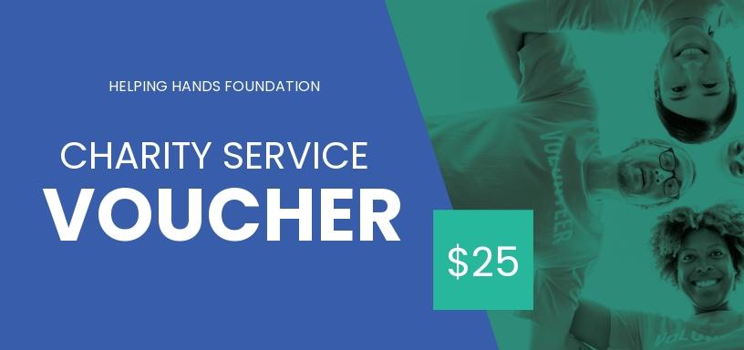 Charity Service Voucher Template