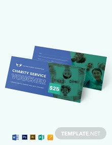 Charity Service Voucher Template